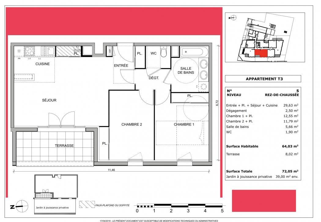 Vente Appartement 3 pièces CENON 33150