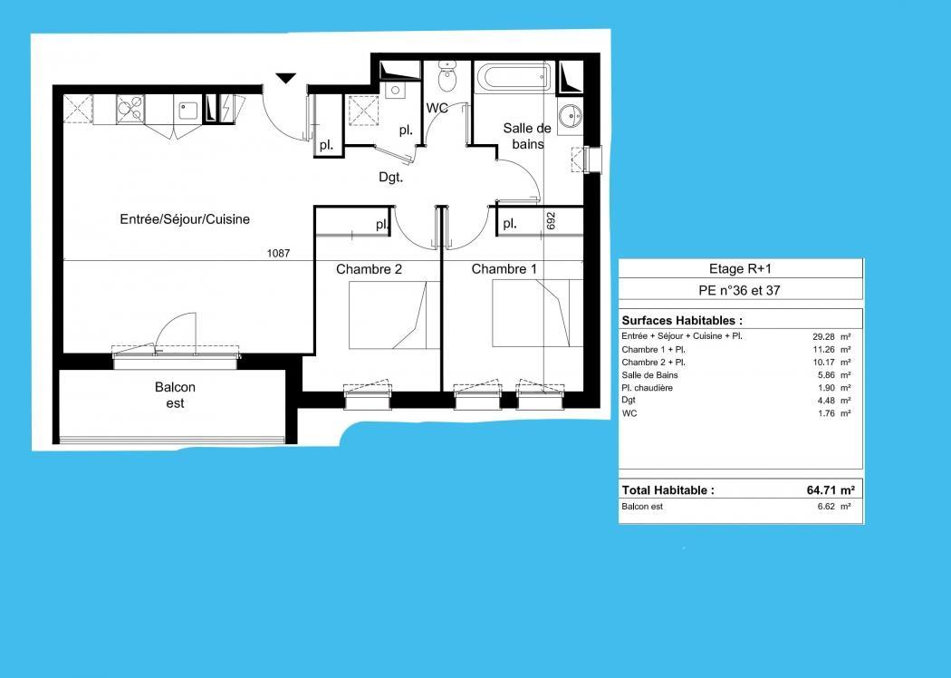 Vente Appartement 2 pièces SAINT MEDARD EN JALLES 33160