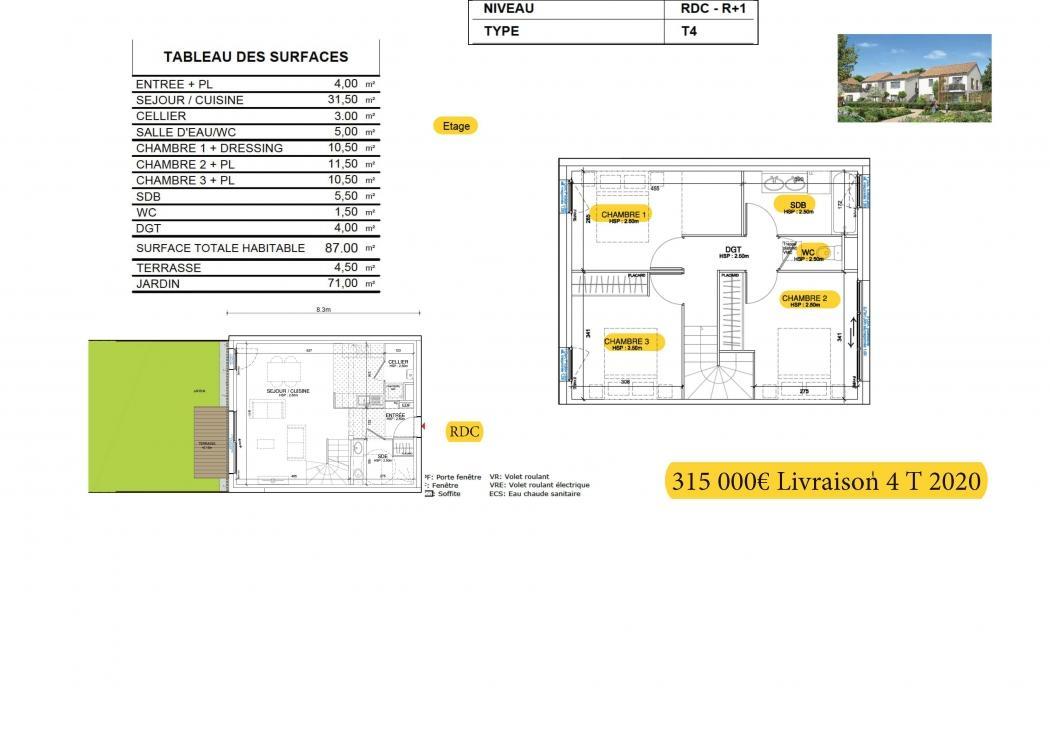 Vente Maison 4 pièces MARTIGNAS SUR JALLE 33127