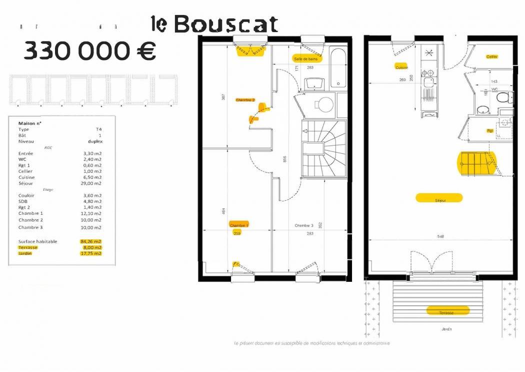 Vente Maison 4 pièces LE BOUSCAT 33110