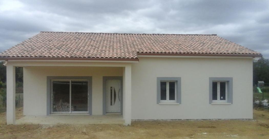 vente maison en construction auch axe toulouse n ky80813 immobilier auch 32. Black Bedroom Furniture Sets. Home Design Ideas