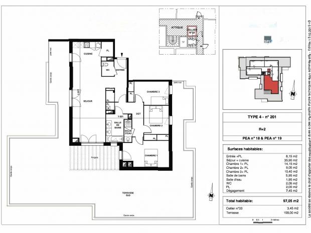 Vente Appartement 4 pièces PESSAC 33600