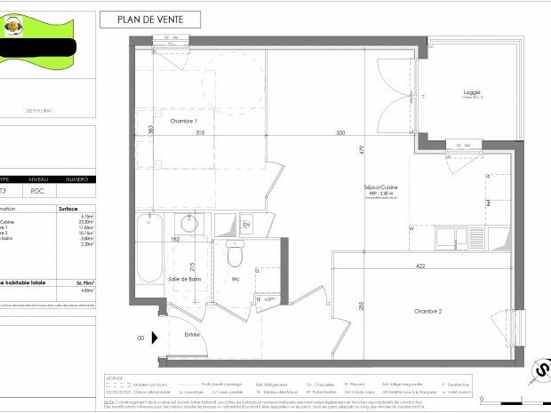 Vente appartement floirac n mh67762 immobilier floirac for Achat maison floirac