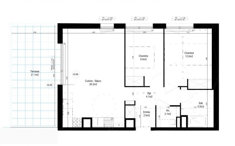 Vente appartement floirac n mh77691 immobilier floirac 33 for Achat maison floirac