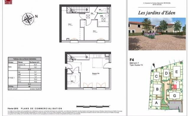 Vente maison f4 chass chassieu n om71401 immobilier for Achat maison chassieu