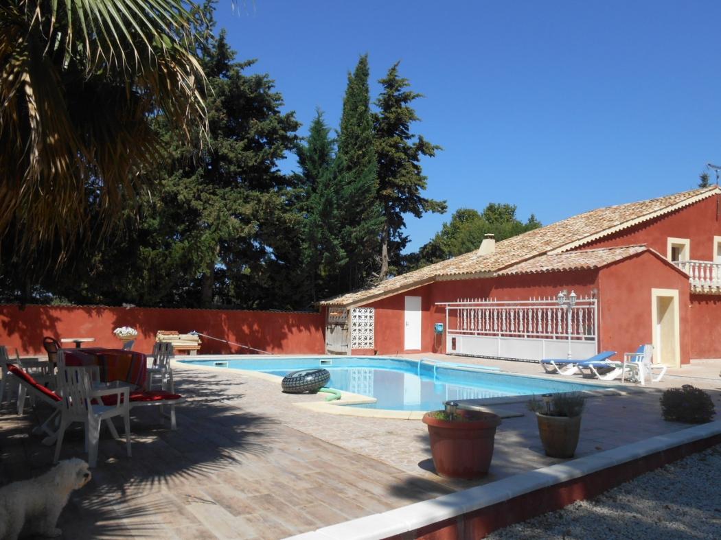 Vente villa mas terrain piscine servian campagne n pz71479 for Piscine servian