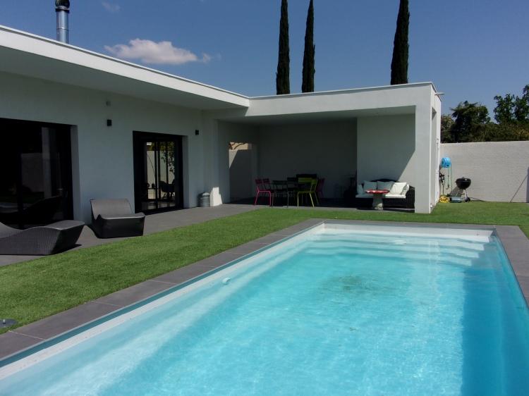 Vente maison contemporaine t6 piscine beziers n rh70923 for Vente maison moderne